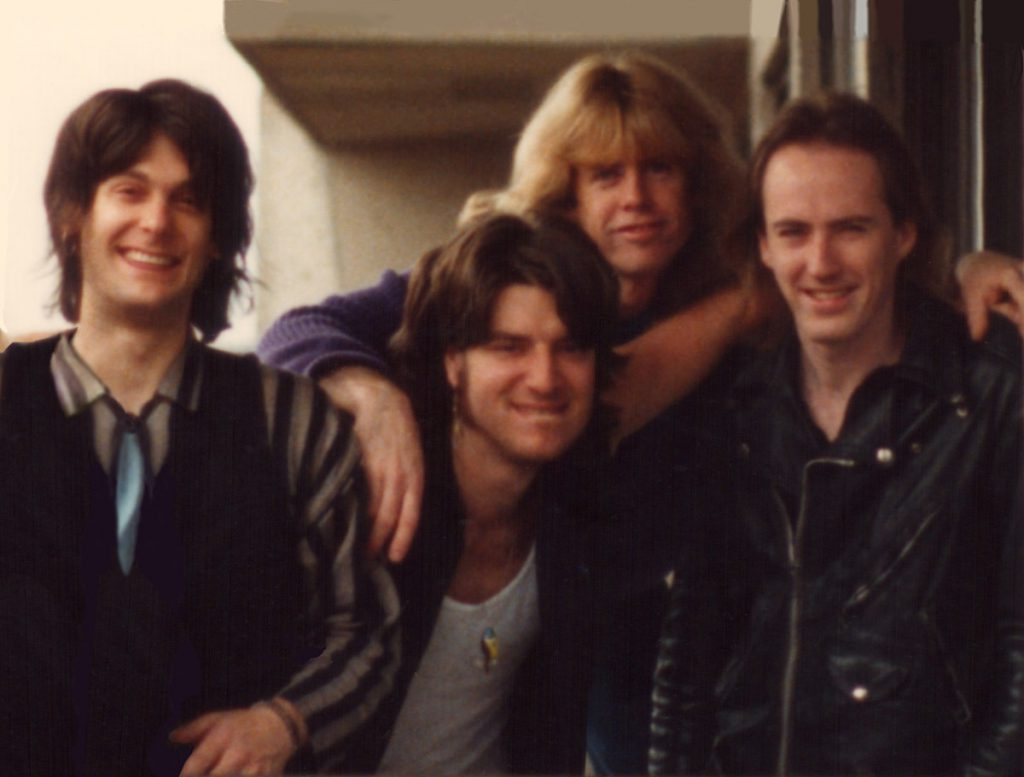 Snapshot of the 1987 band lineup